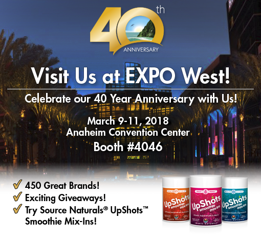 Join us at the NPA Expo West, March 9, 2018.