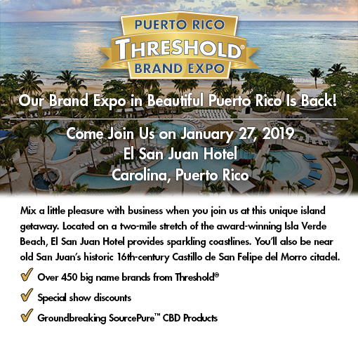 Join us at the Puerto Rico Threshold Brand Expo, January 27, 2019.
