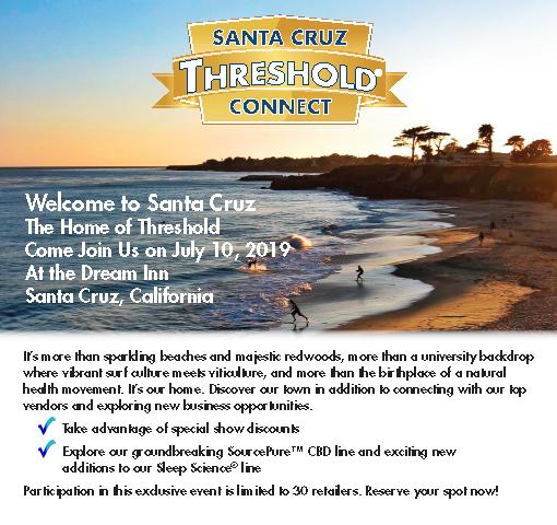 Join us at the Santa Cruz Threshold Connect 30/30, July 10, 2019.