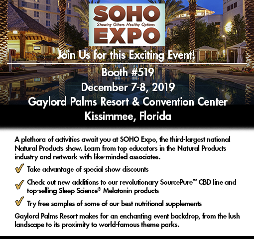 Join us at the SOHO Expo, December 5, 2019.