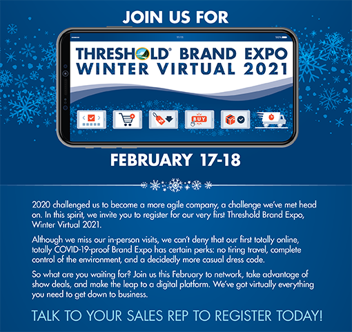 Join us at the TH Brand Expo Winter Virtual 2021, November 25, 2020.